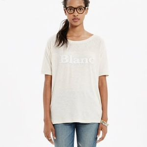 Madewell Blanc French Graphic Burnout T-shirt